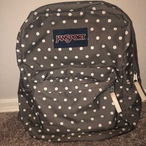 Jansport poka dot backpack